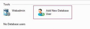Add New Database User